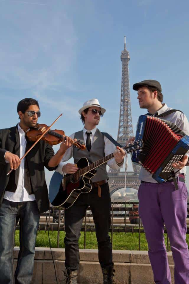 Book our roaming buskers for your event. Our 3 man trio are available for hire in London and around the UK.