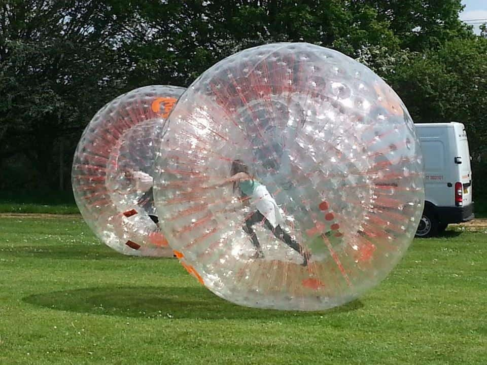 Body Zorbing Game available to hire as a competitive game for Sports Days in the UK.