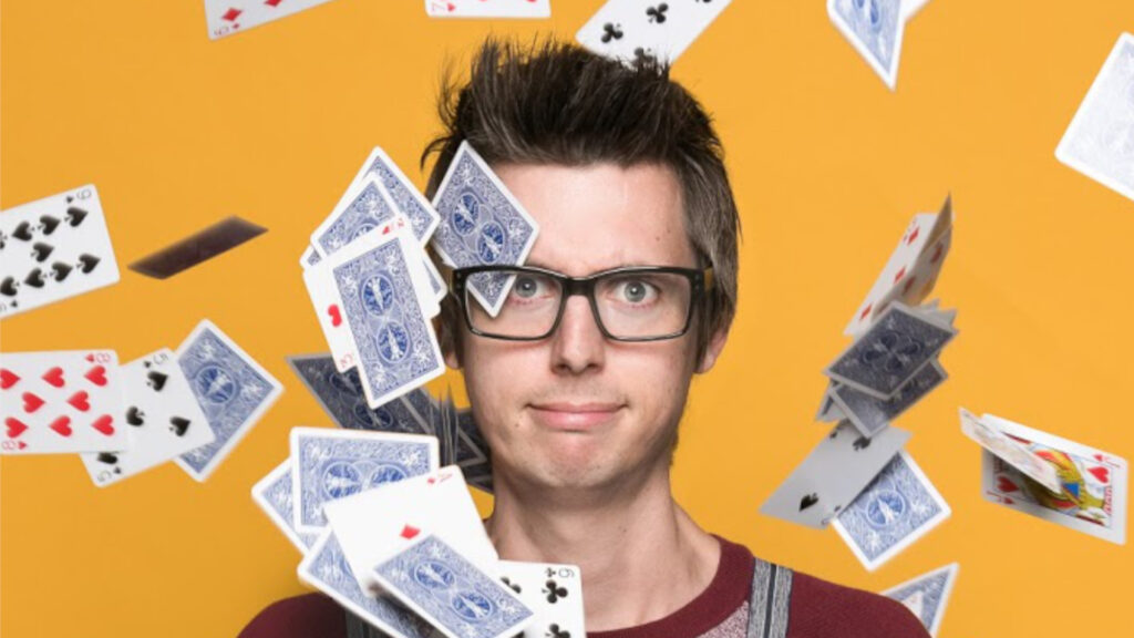Chris Cox Virtual magician and comedy mind reader available to book for virtual team building and live events