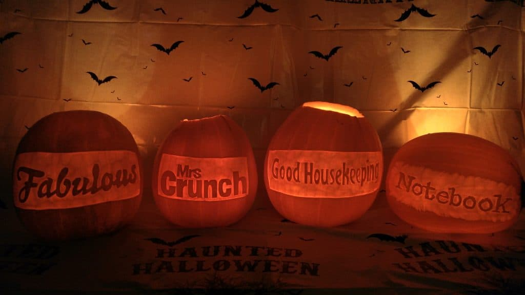 Our pumpkin carver created some unique pumpkins with names carved into them for a private client.