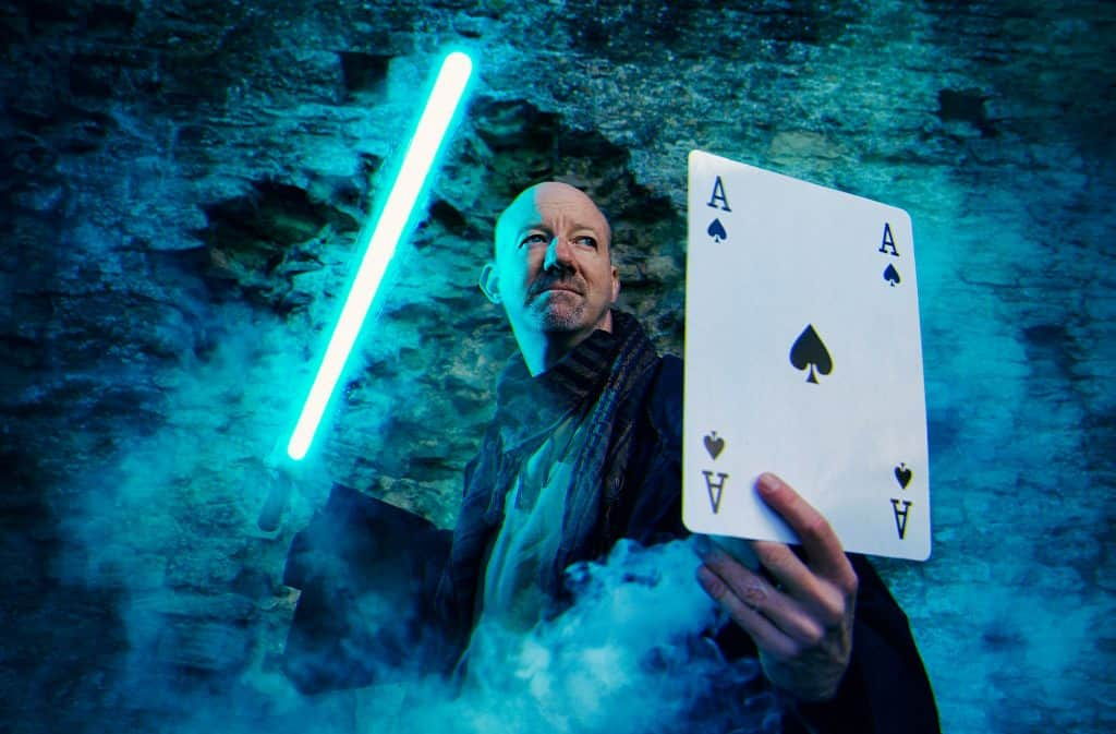 Star Wars magician showing off his unique talent. He is the only performer in the UK.