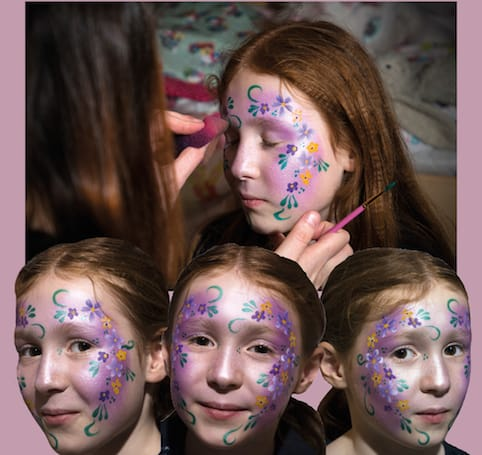 Face painters for hire for children's parties in the UK.