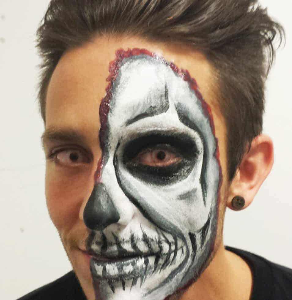 Halloween face painters for hire in London.