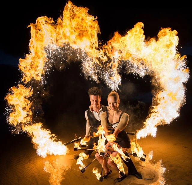 Dancers for hire. The Blaze Fire Dancers are available to book for private events in London & the UK.