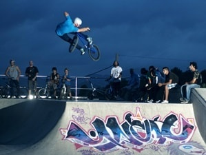 Freestyle and urban BMX entertainers and performers avilible for event hire in London and the UK
