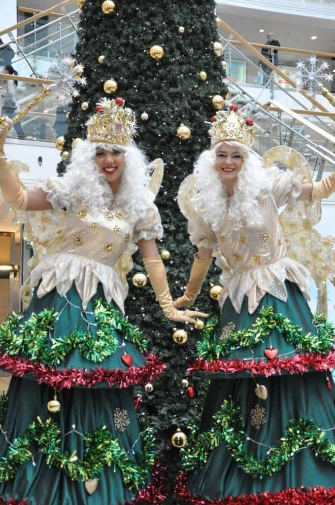 Christmas Tree Fairies for hire. Our Christmas Tree Fairies are available to book for Christmas parades in the UK & London.