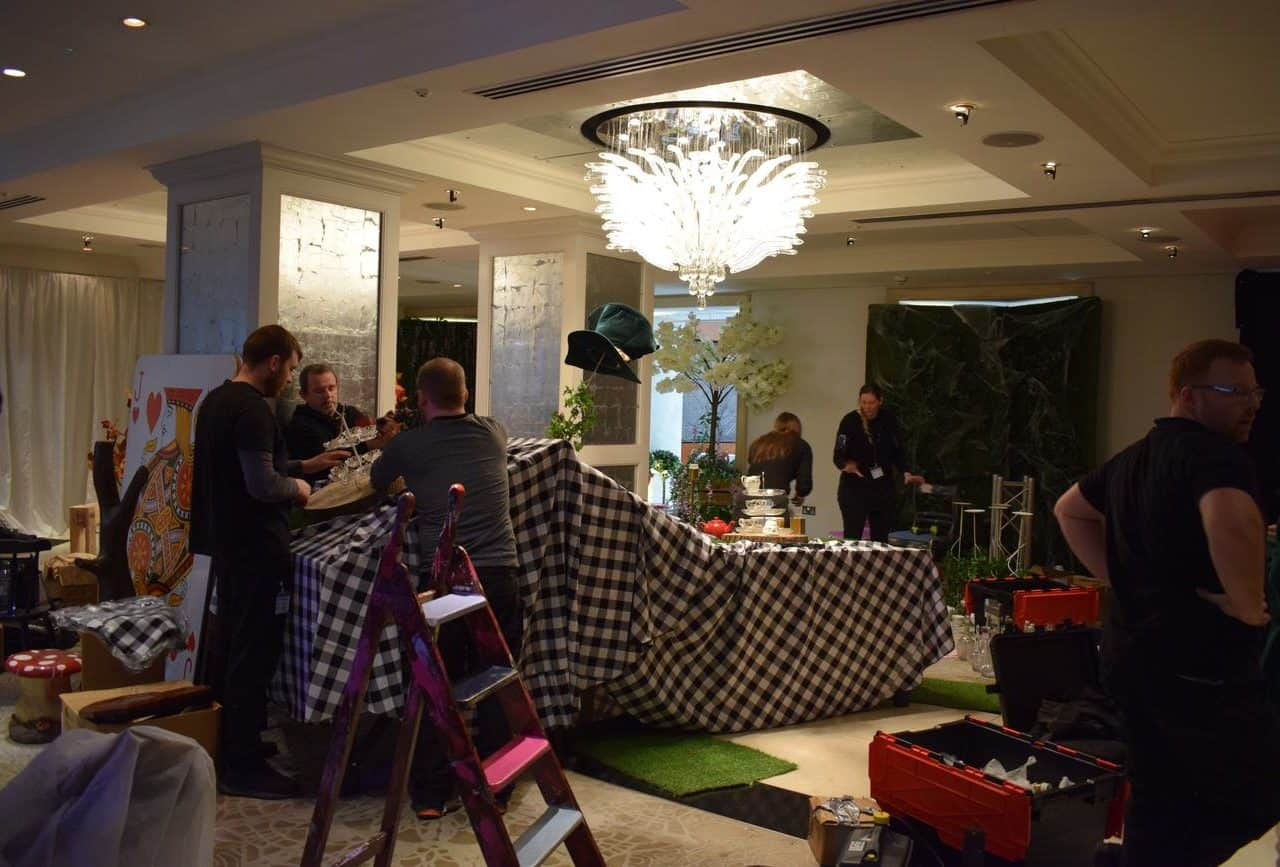 Completing the themed venue transformation for the Conrad Hotel.