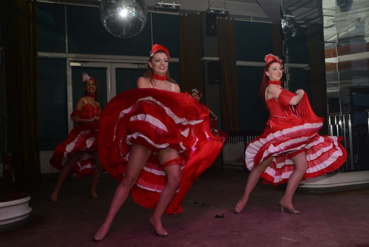 The Crazy Can-Can Dancers for hire. Book our Can-Can dancers for Moulin Rouge-themed events, corporate events or gala dinners in London & the UK.