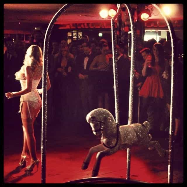 Christmas-themed dancers for hire. Our Christmas Burlesque show is available to book for private parties in London & the UK.