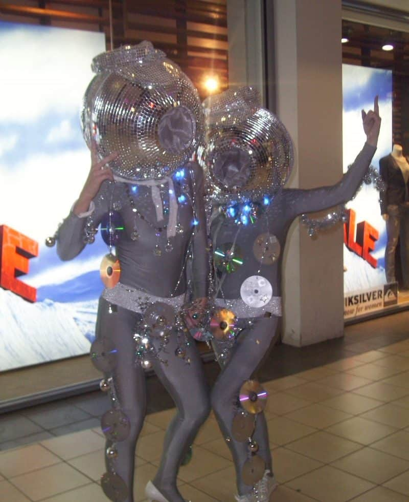Book our Disco Ball Dancers for your promotional event in London & the UK.