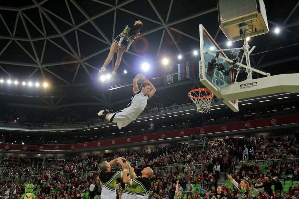 Acrobatic basketball dunking available to book for brand activations in London and the UK