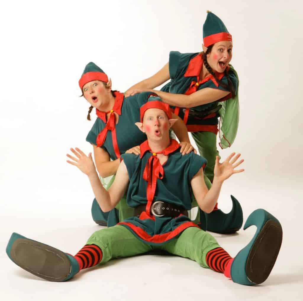 Christmas elves available to hire for Christmas Themed Events in the UK.