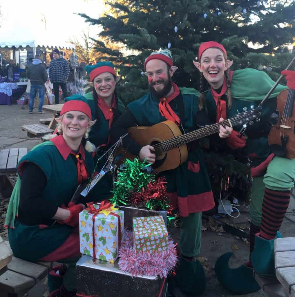 Hire our elf characters for Christmas-themed events in London.