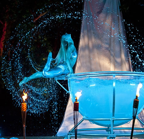 Solo Swimming Show for hire. Book our Aquatica performer for award ceremonies in London & the UK.