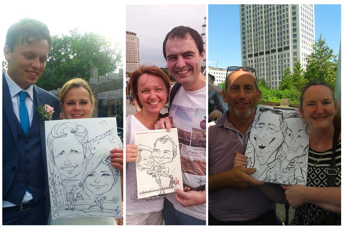 Artists for hire. Book our caricaturists for product launches in the UK & London.