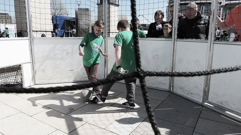 football cages for hire. Our mini football pitches can be hired worldwide.