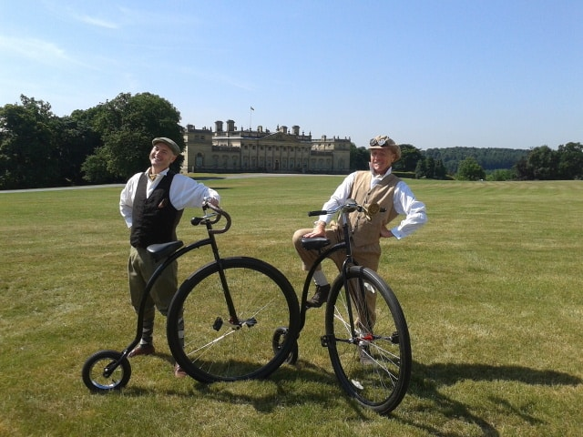 The Gentlemen Cyclists for hire. Our comedy Gentlemen Cyclists are available to book for Easter events, family fun days or summer festivals in London & the UK.