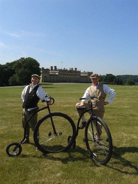 The Gentlemen Cyclists for hire. Our comedy British gentlemen are available to book for summer festivals in the UK & London.