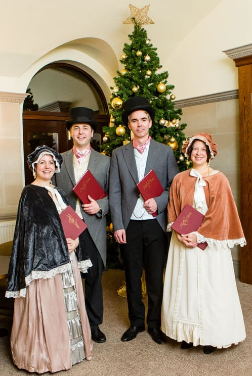 UK-based Victorian carol singers available to hire for Christmas parades.