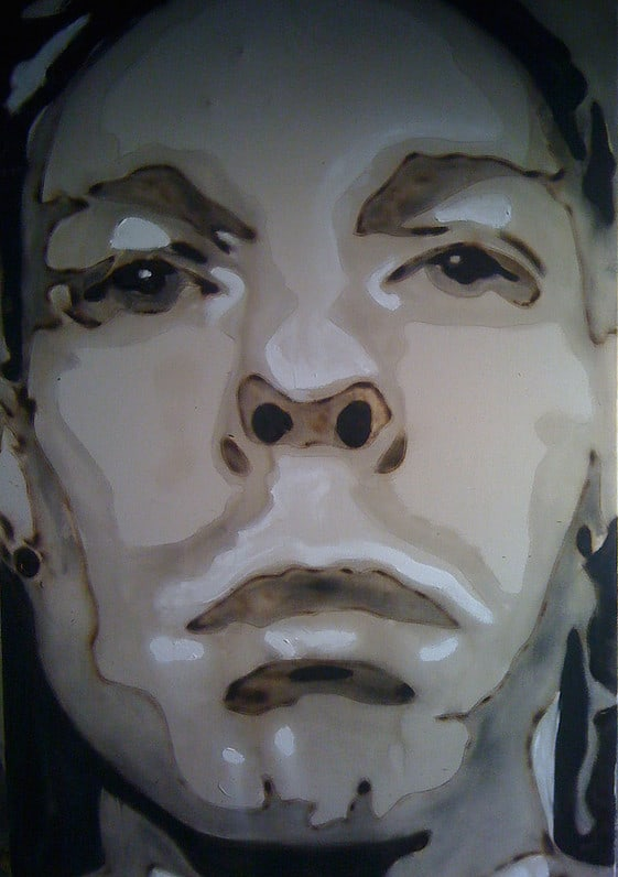 Blow Torch Artist for hire. Book James Ruddle our Speed Painter for brand activations in the UK & London.