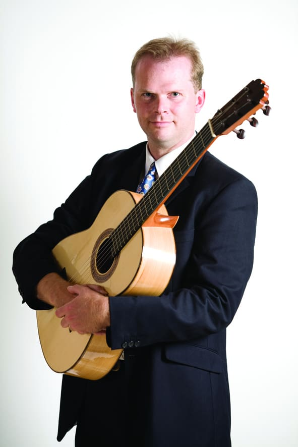 Our classical wedding guitarist can be booked in Somerset.
