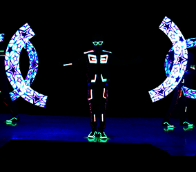 Book our LED Poi dancers for brand reveal events worldwide.