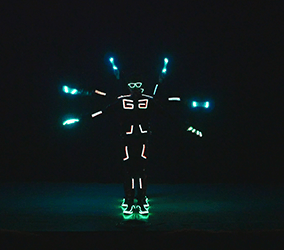 Our glow show dancers can be booked worldwide for corporate events.