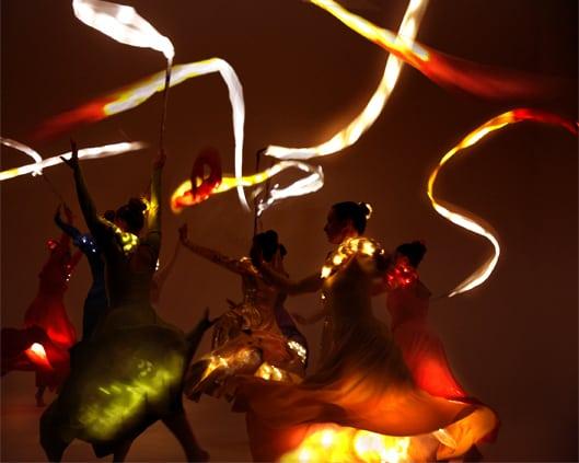 LED Ribbon Dancers | Ribbon and Flag Dancers | LED Performers