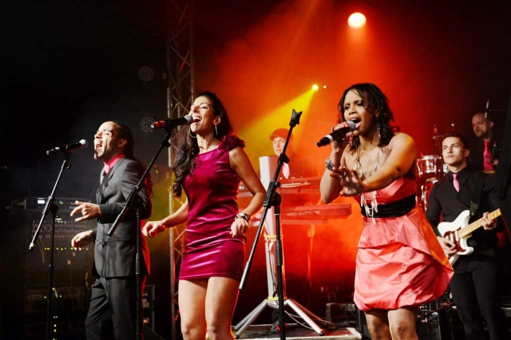 UK-based live function band can be booked for weddings.