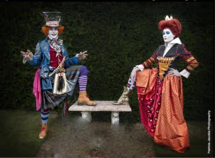 Mad Hatter lookalike for hire. Book our Red Queen lookalike for picnic events in London & the UK.