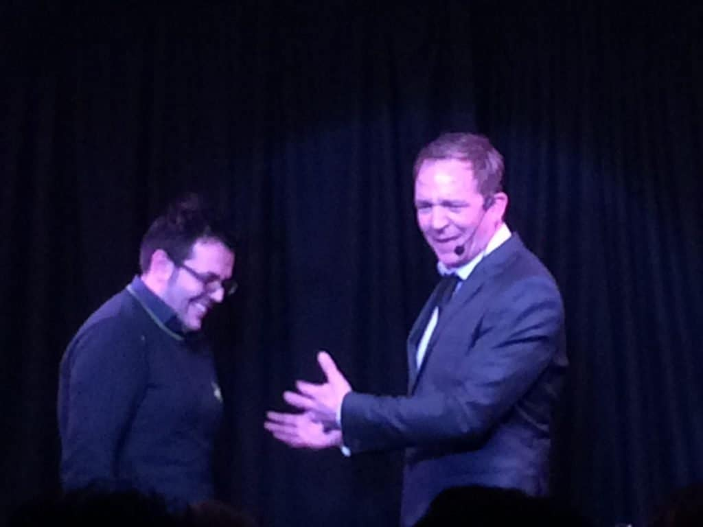 Mind reading magic stage show for hire. Our Mentalist is available to book for private parties in London & the UK.