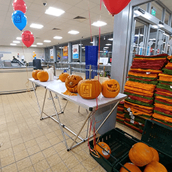 Hire our Pumpkin carving demonstrations for themed events in London and the UK.