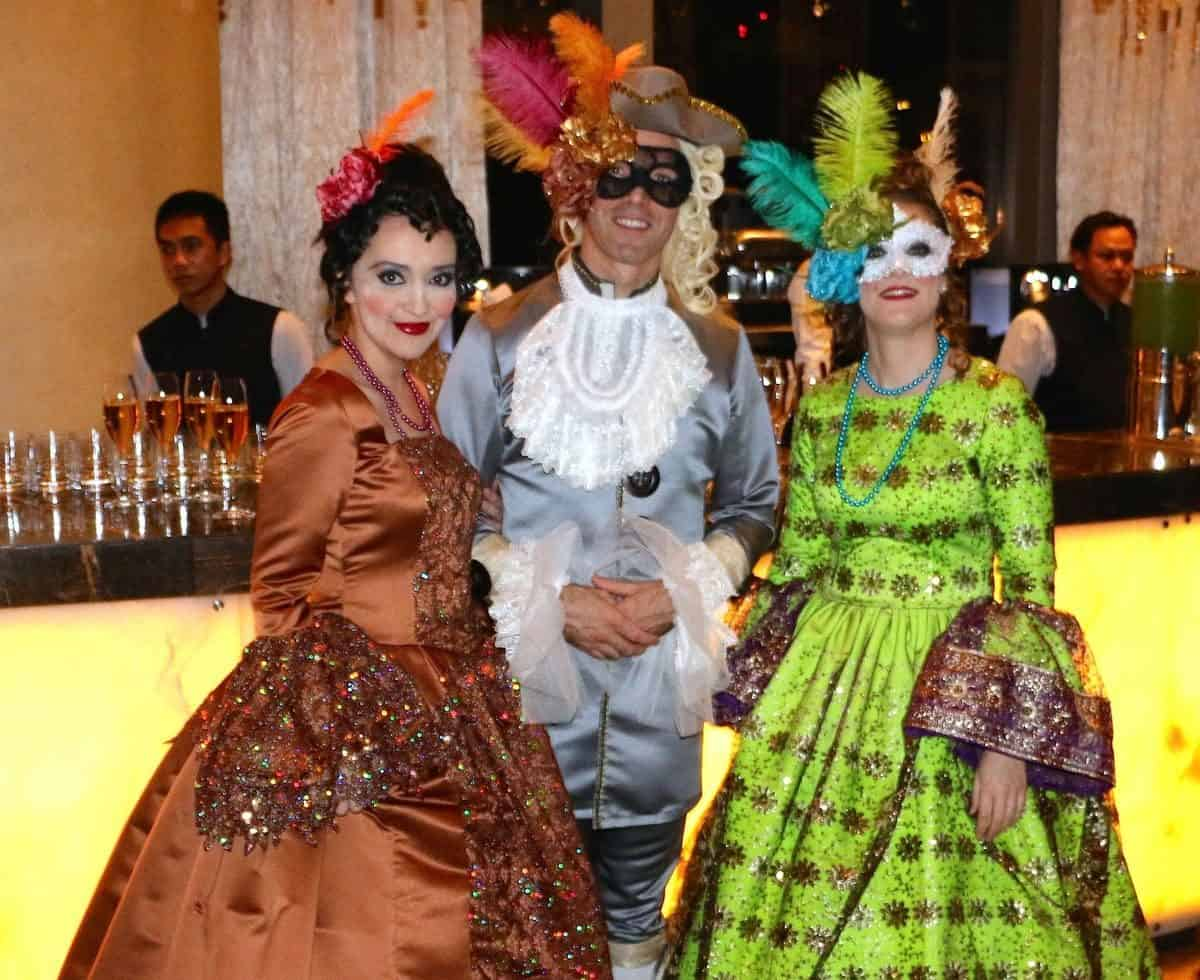 Masked ball meet & greet characters for hire. Book The Renaissance Parade dancers for masquerade balls in London & the UK.
