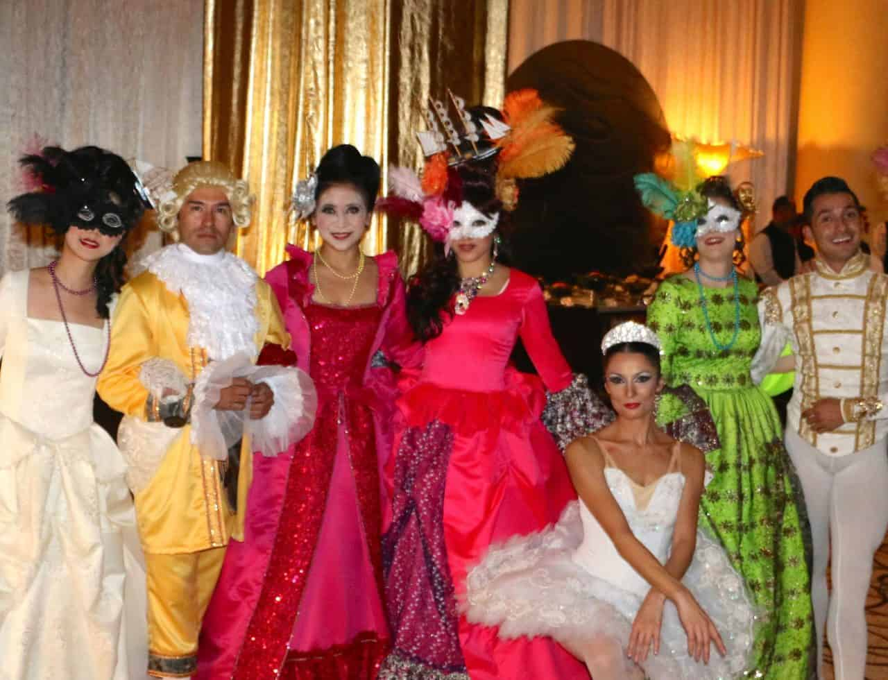 Masquerade theme entertainment