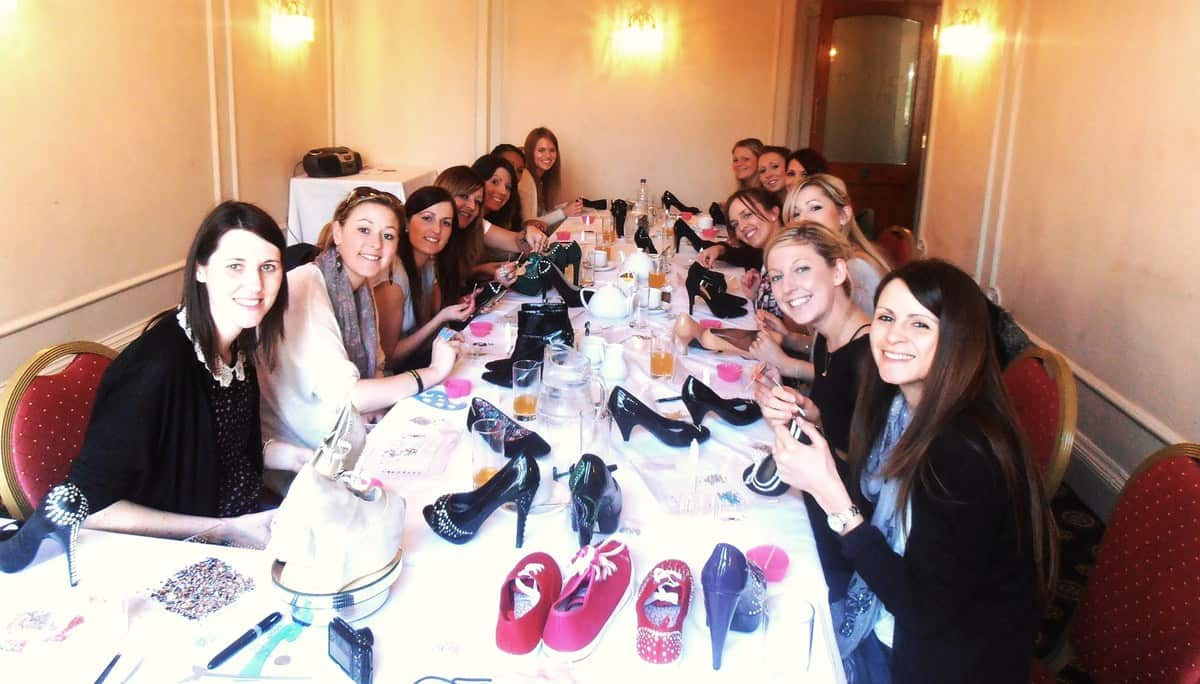 Shoe decoration workshops for hire in London and the UK