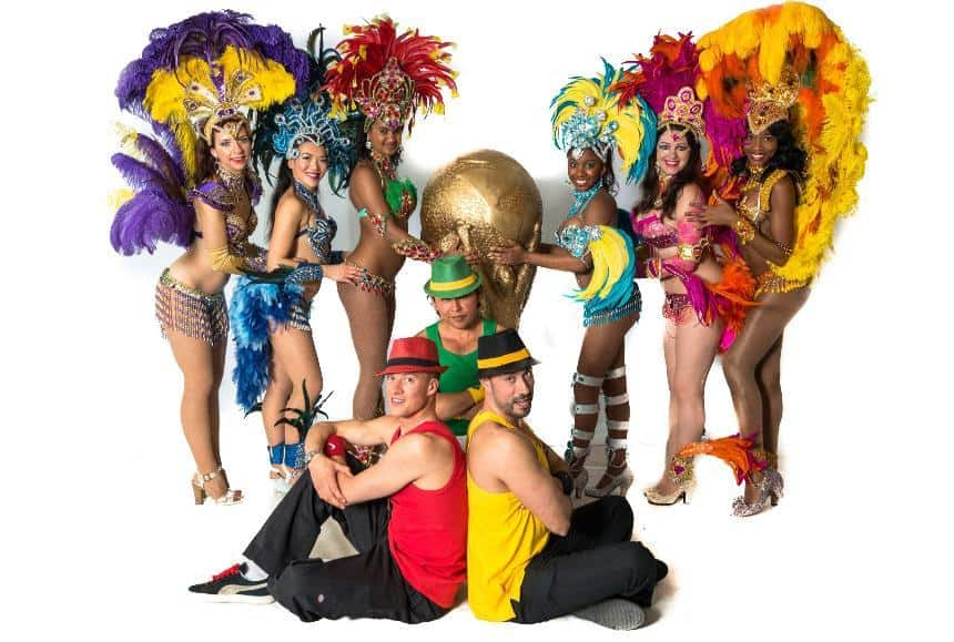 Rio themed Samba dancers and entertainers for hire. Our Rio dancers can be hired across the UK.