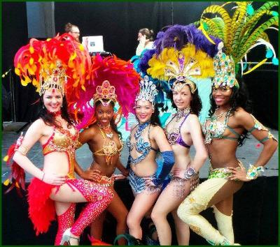 Rio and carnival themed entertainment for hire. Our carnival entertainers can be hired in London and the UK