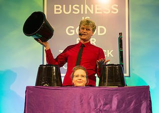 Our comedy magicians are available to hire for gala dinners in London & the UK.