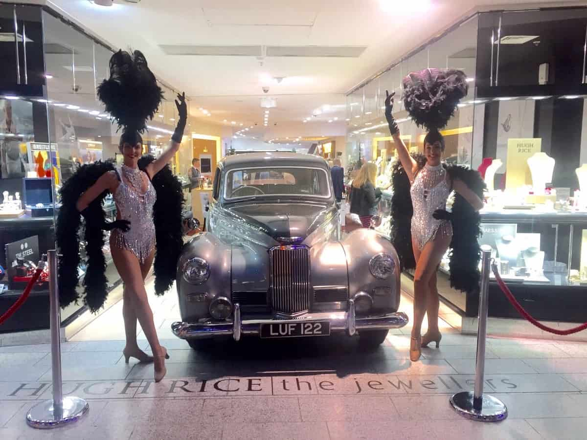 The Sparkling Showgirls for hire. Book our showgirls for Las Vegas-themed events in London & the UK.