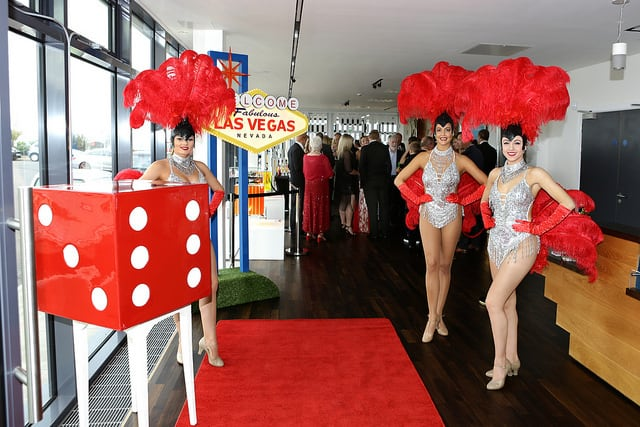 Las Vegas showgirls for hire. Book our Sparkling Showgirls for corporate events in Stourbridge & the UK.