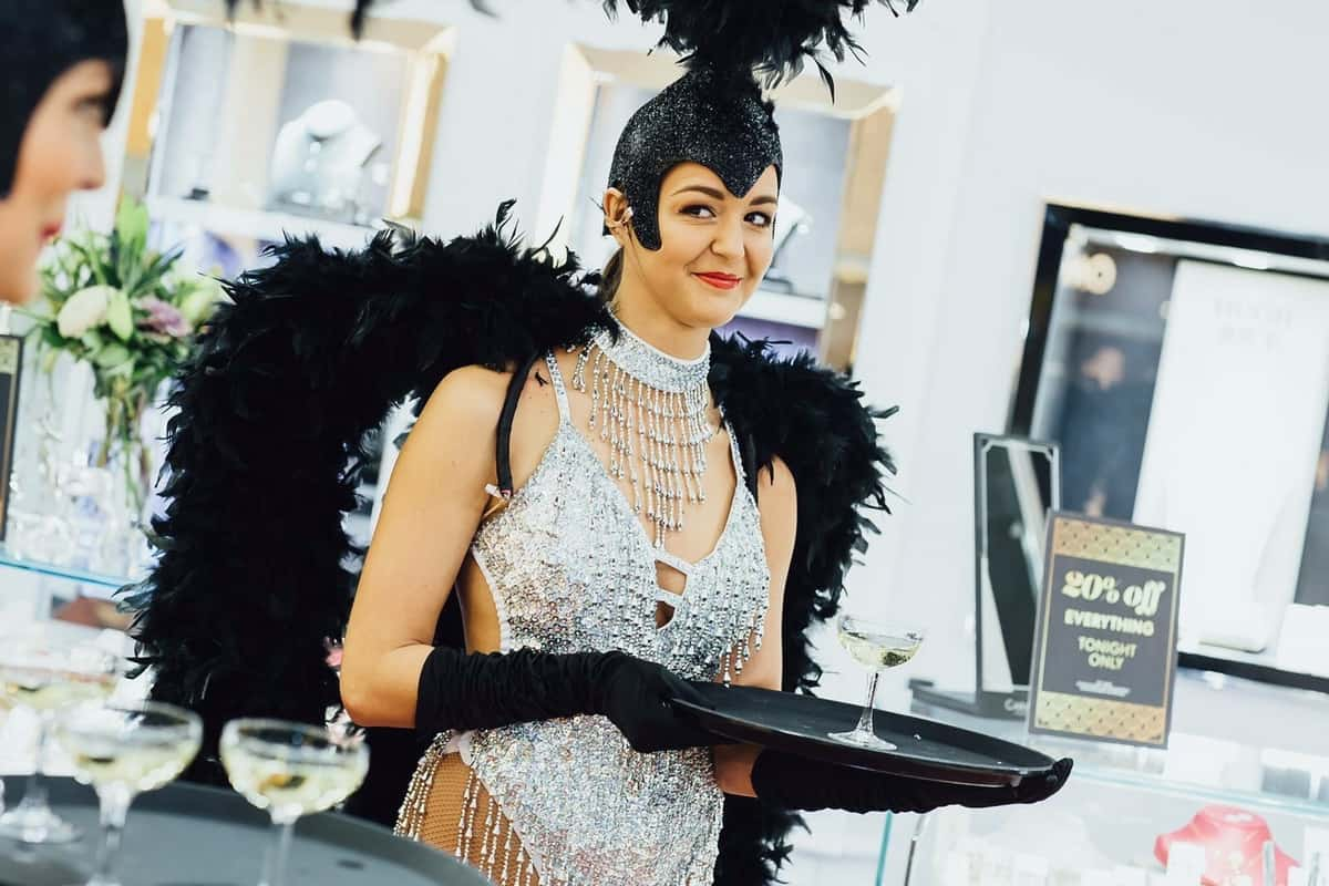 Showgirls for hire. Book our Las Vegas Showgirls for Hollywood-themed events in London & the UK.