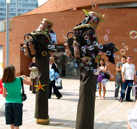 Book our Deep Sea Diver Stilt Walkers for themed events in the UK & London.