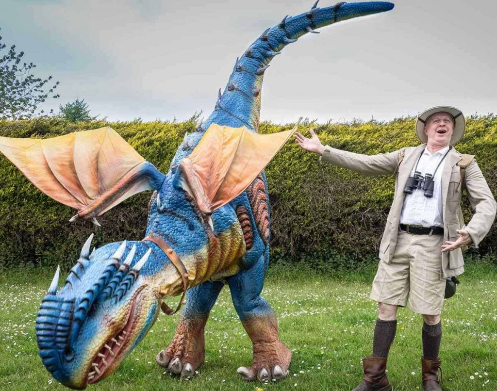 Blaze The Animatronic Dragon available to book for corporate events in the UK.