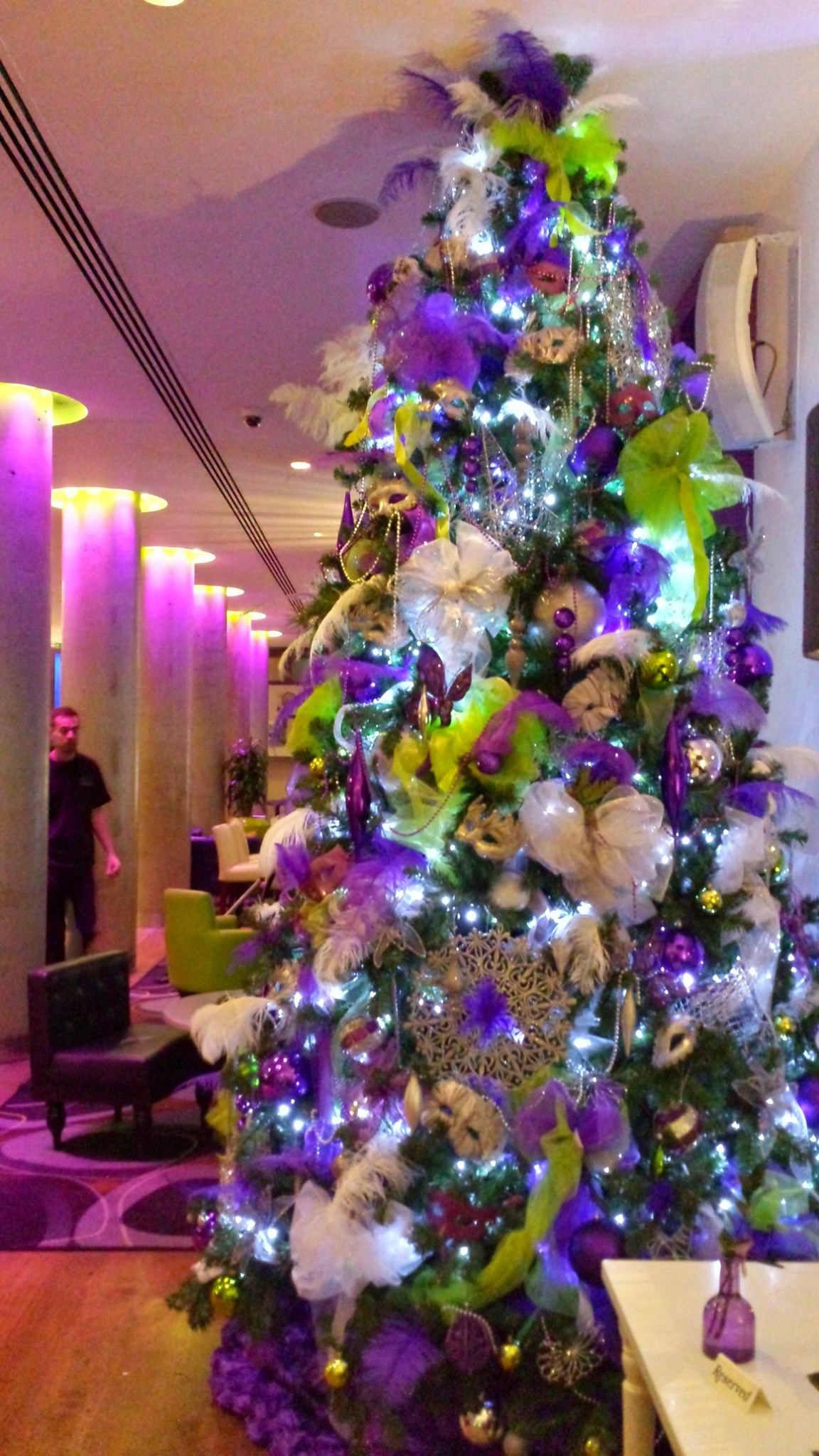 Cadbury S Purple Themed Christmas Tree Designs For Hire Uk