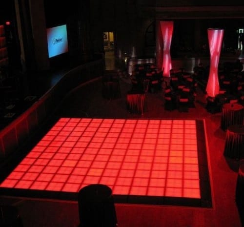 Bright Red LED Dance Floor available to hire for parties and events in London and across the UK. We provide event dance floor hire for private and corporate clients in the UK and Worldwide.