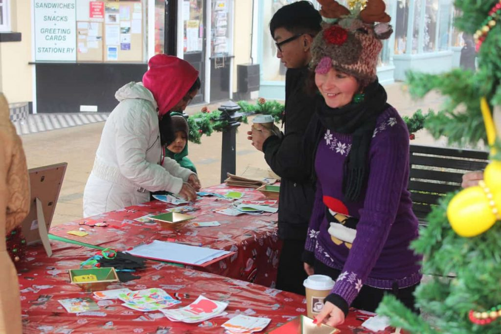 Children's Workshop we created for the Newmarket Christmas Market event.