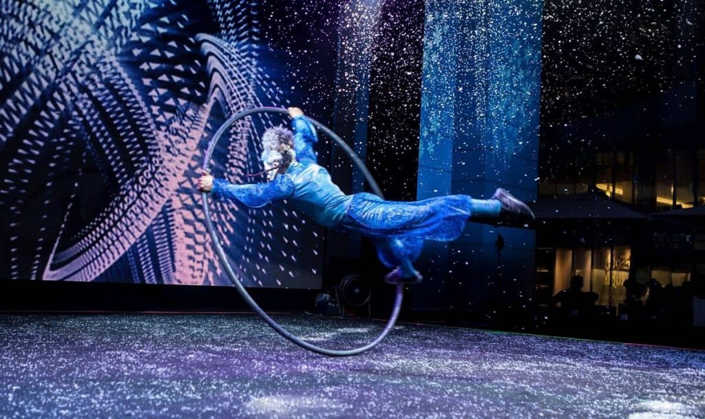 The Glacial Circus Show is a high-end stage production available to book for events Worldwide.