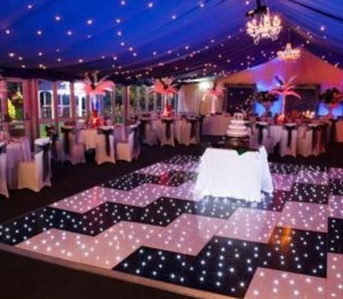Zig zag LED dance floor for hire. Zig zag dance floor for hire in London and around the UK.