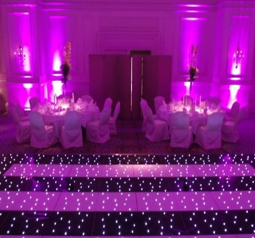 Striped LED dance floor for hire. our striped dance floors are available for hire in London and around the UK.
