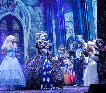 Our Alice in Winter Wonderland children's show is available to hire for shopping centre events, children's events or corporate events in London & Dubai.